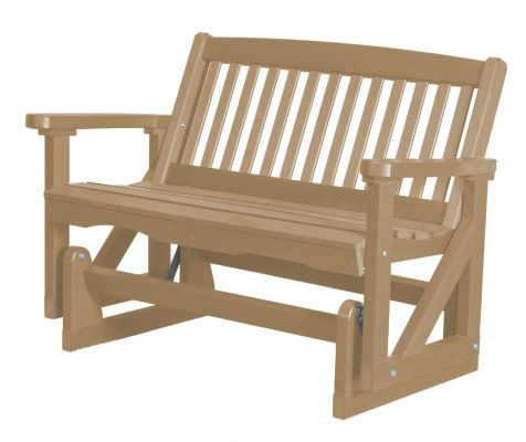 Weathered Wood Aniva Outdoor Double Glider