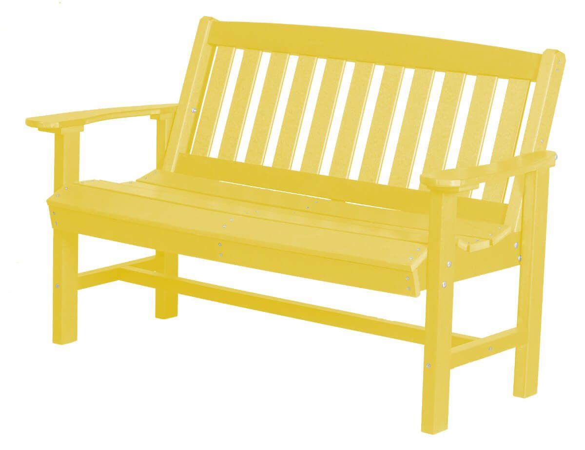 Lemon Yellow Aniva Patio Bench