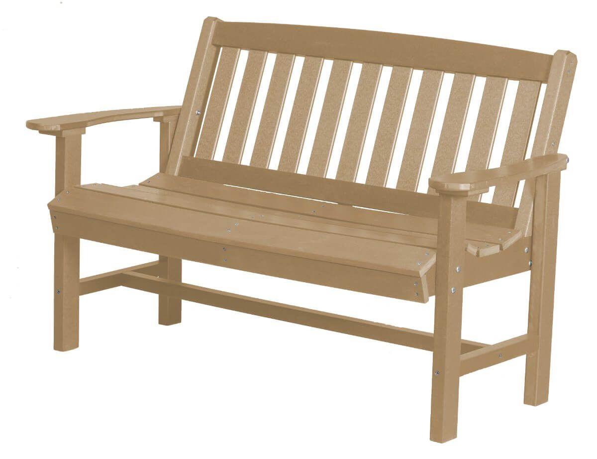 Weathered Wood Aniva Patio Bench