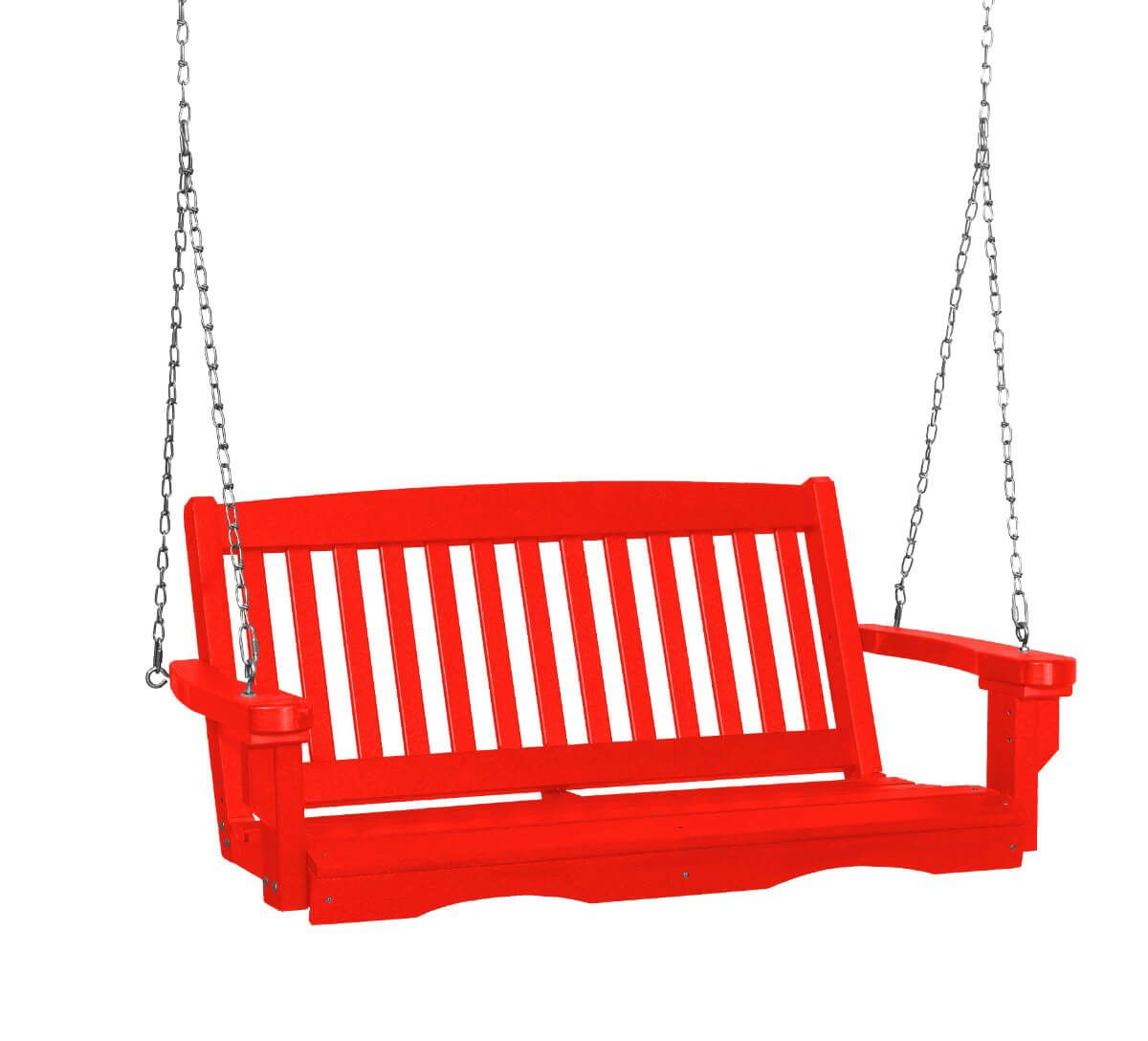 Bright Red Aniva Porch Swing