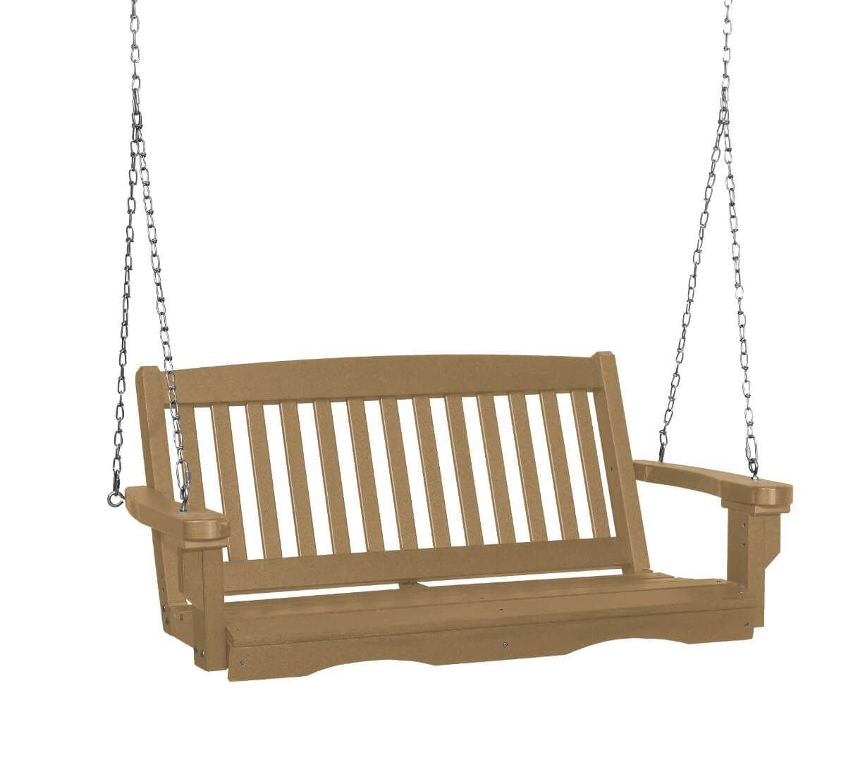 Weathered Wood Aniva Porch Swing