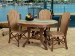 Poly lumber outdoor dining