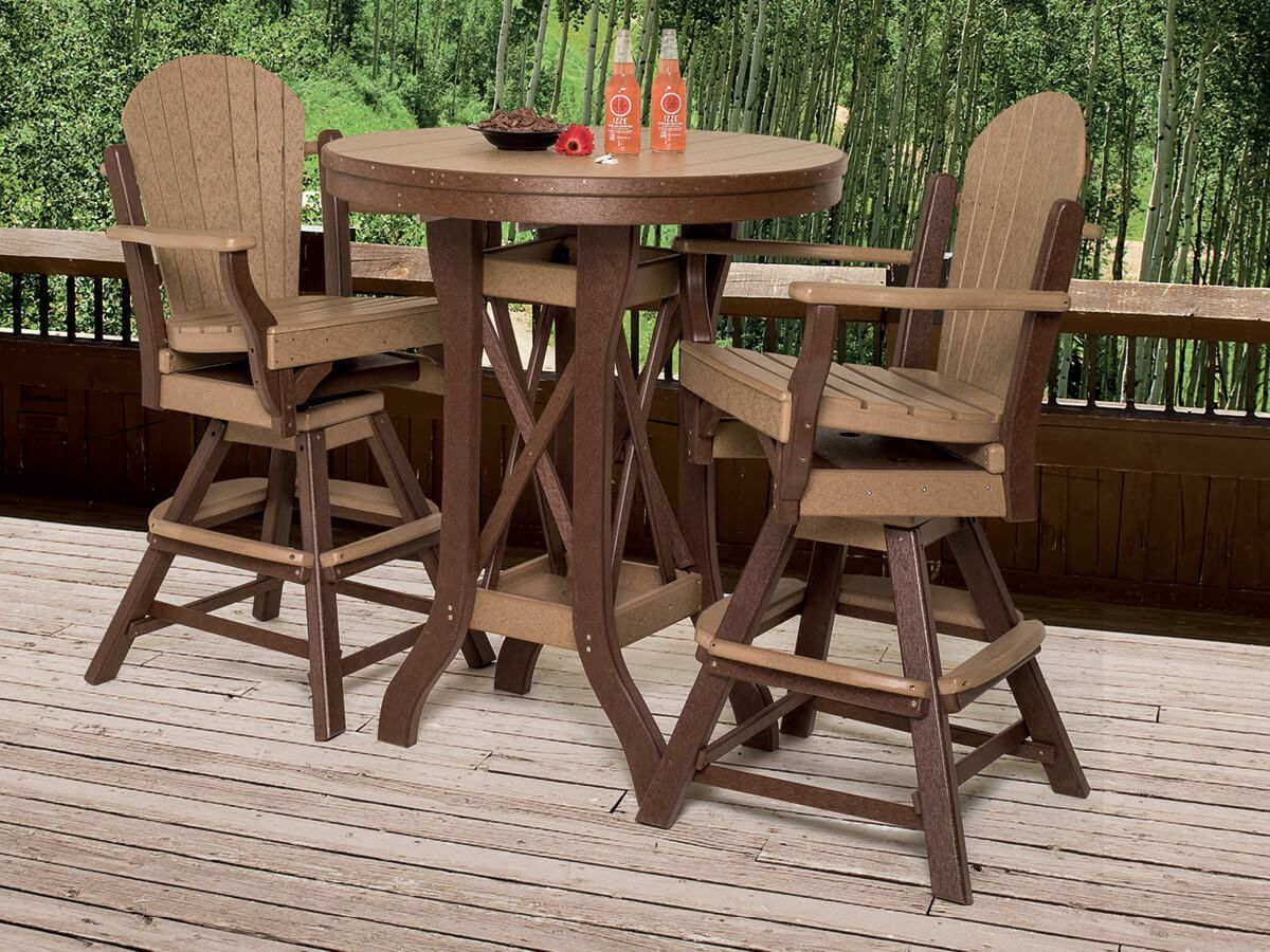 Maui 36 Inch Table Pub Dining Set