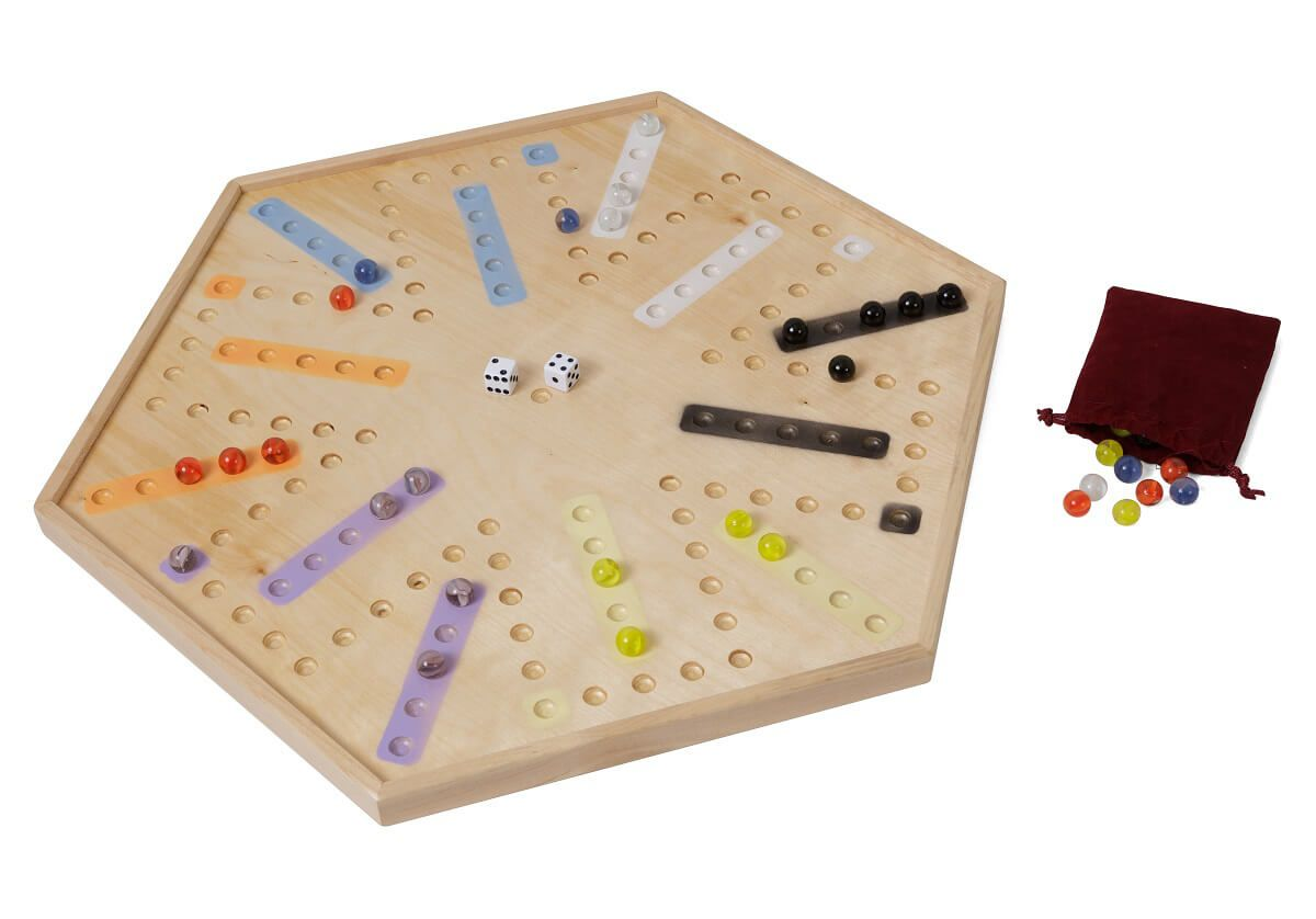 Handcrafted Chinese Checkers Gameboard