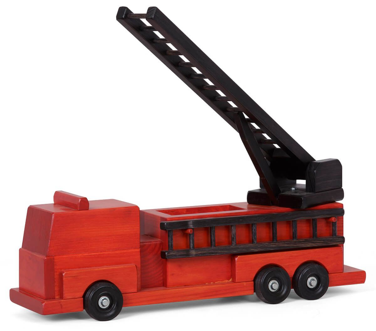 Handcrafted Painted Firetruck Toy
