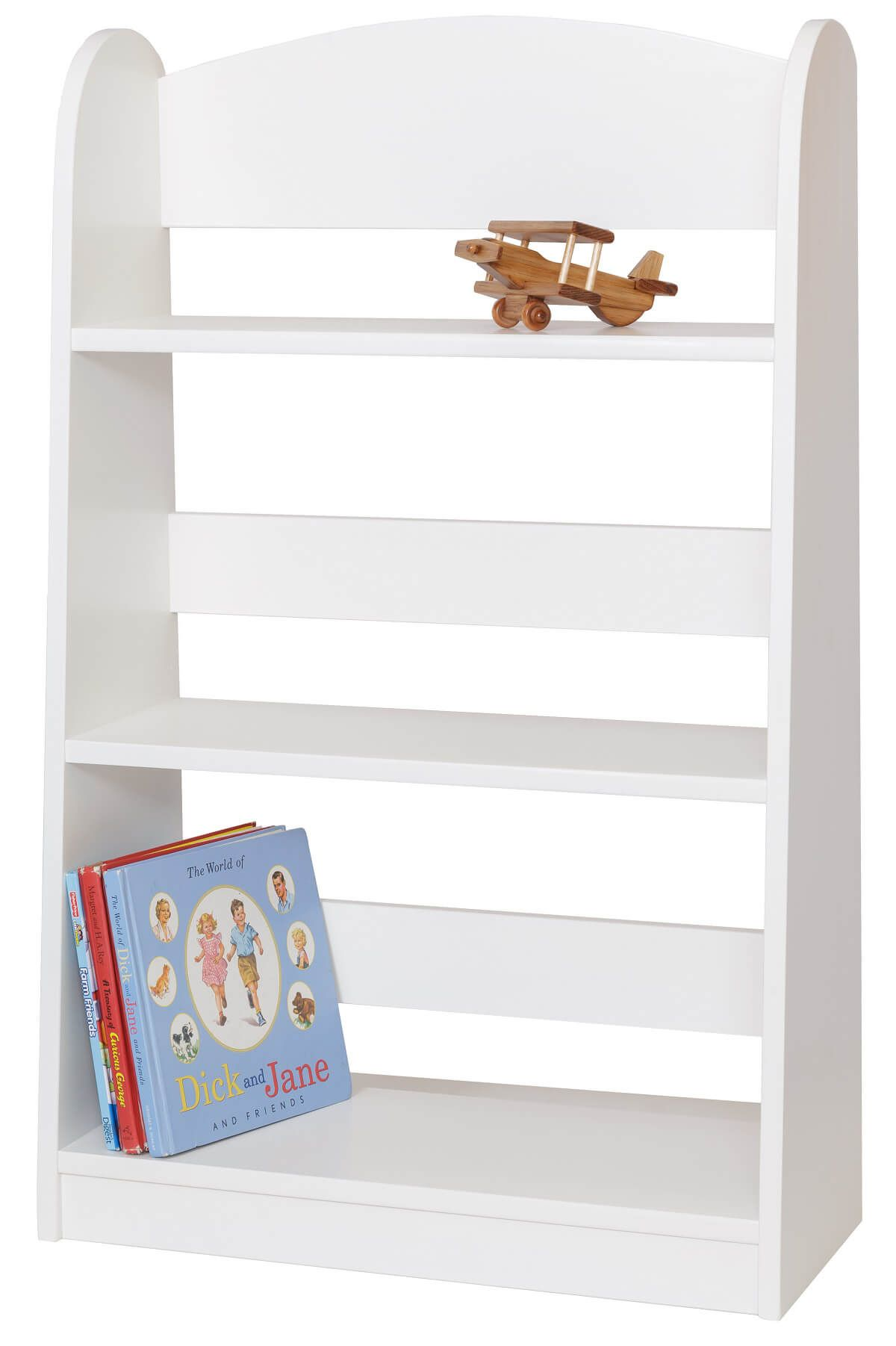 Painted Wooden Bookcase For Kids. Full resolution‎  picture, nominally Width 1200 Height 1802 pixels, picture with #9A3331.