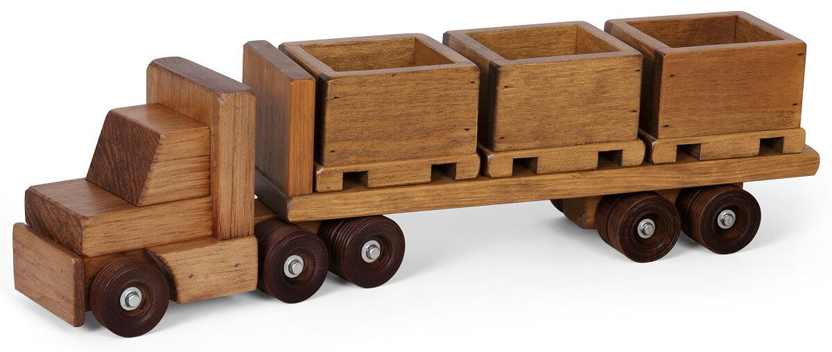 Wooden Skid Truck Toy