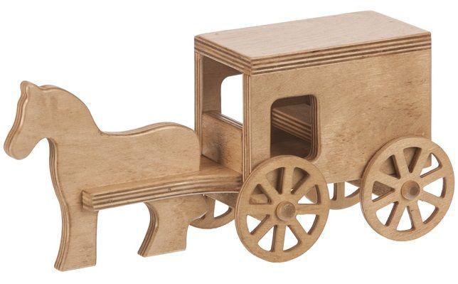 Handmade Amish Horse and Buggy
