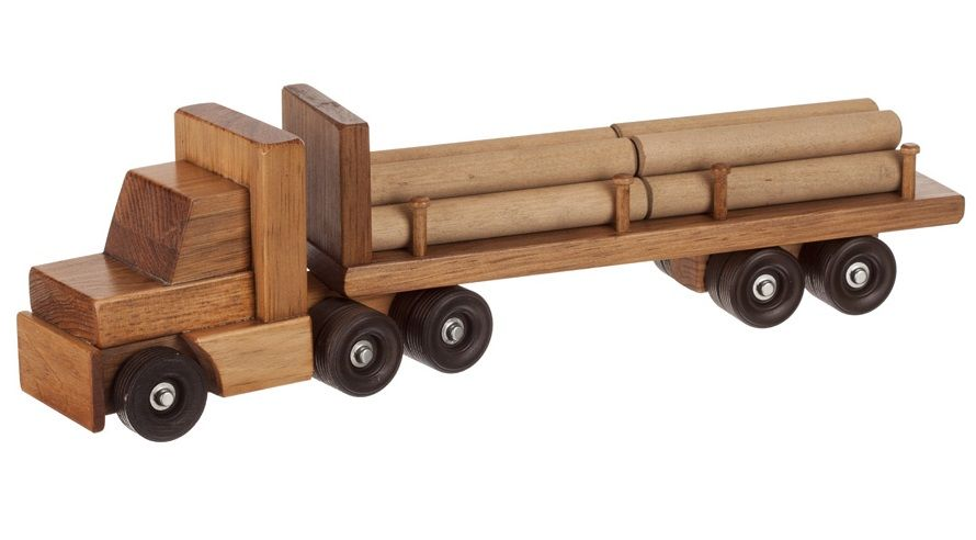 Amish Made Toy Log Trailer