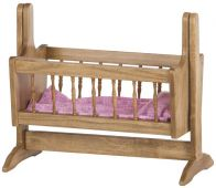 Amish Rocking Doll Cradle