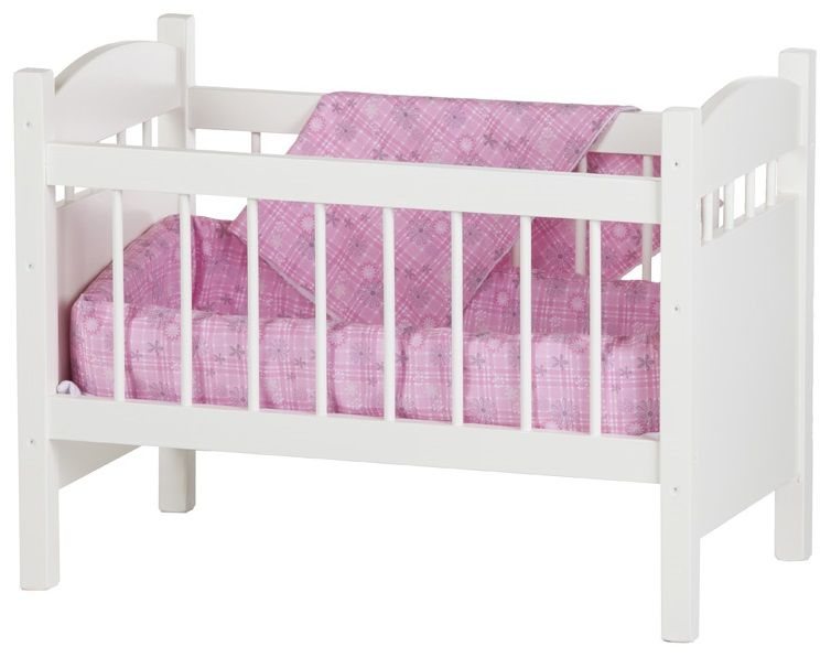 White Painted Doll Bed