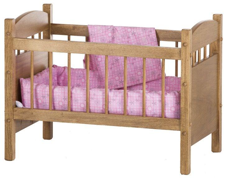 Handmade Crib for Baby Dolls in Harvest Stain