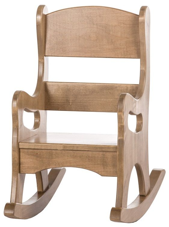 Stained Amish Made Toddler Rocking Chair