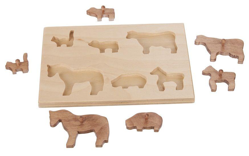 Wooden Handmade Animal Puzzle