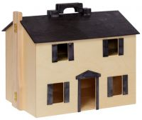 Wooden Folding Doll House with Furniture
