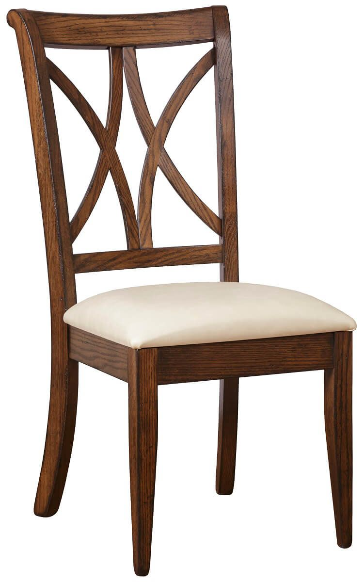 Amish Dining Chair with Fabric Seat