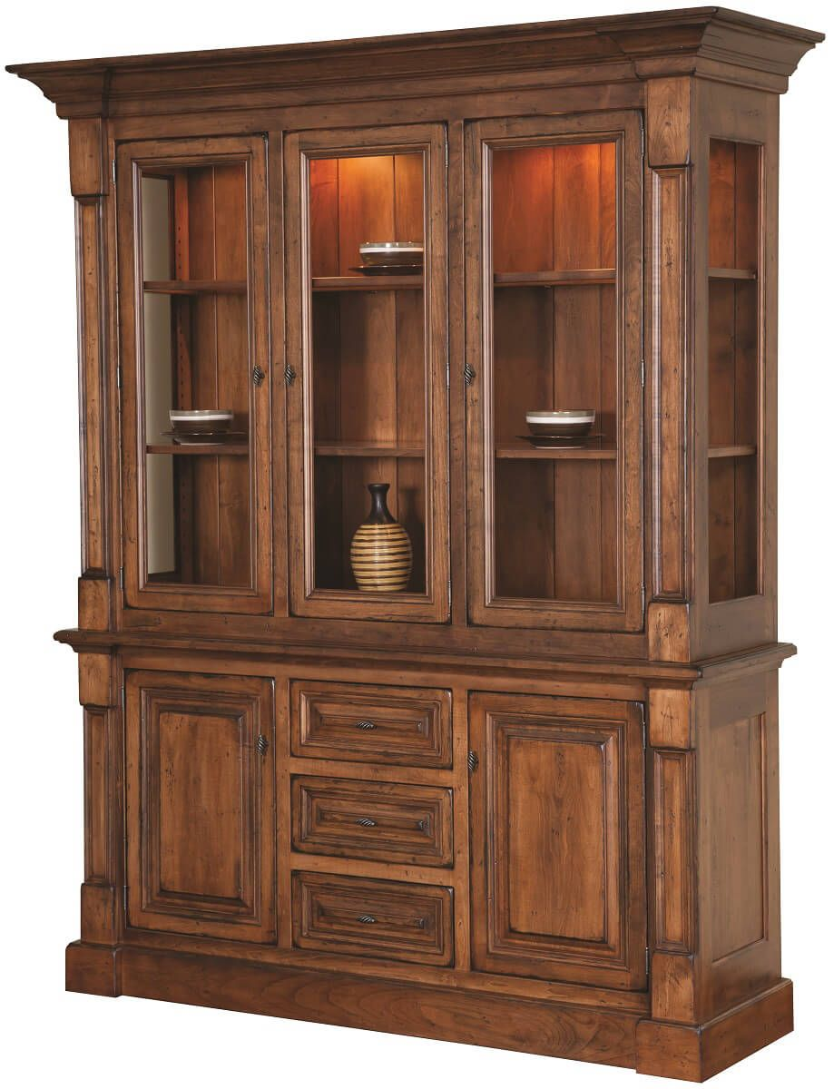 Kaysville 3-Door China Cabinet