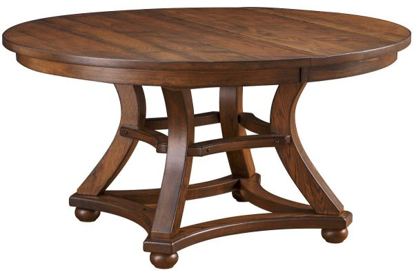 Kaysville Round Amish Kitchen Table - Countryside Amish Furniture