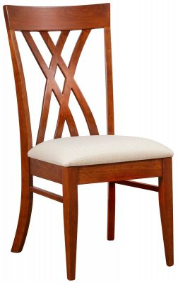 Modern Dining Chair with Fabric Seat