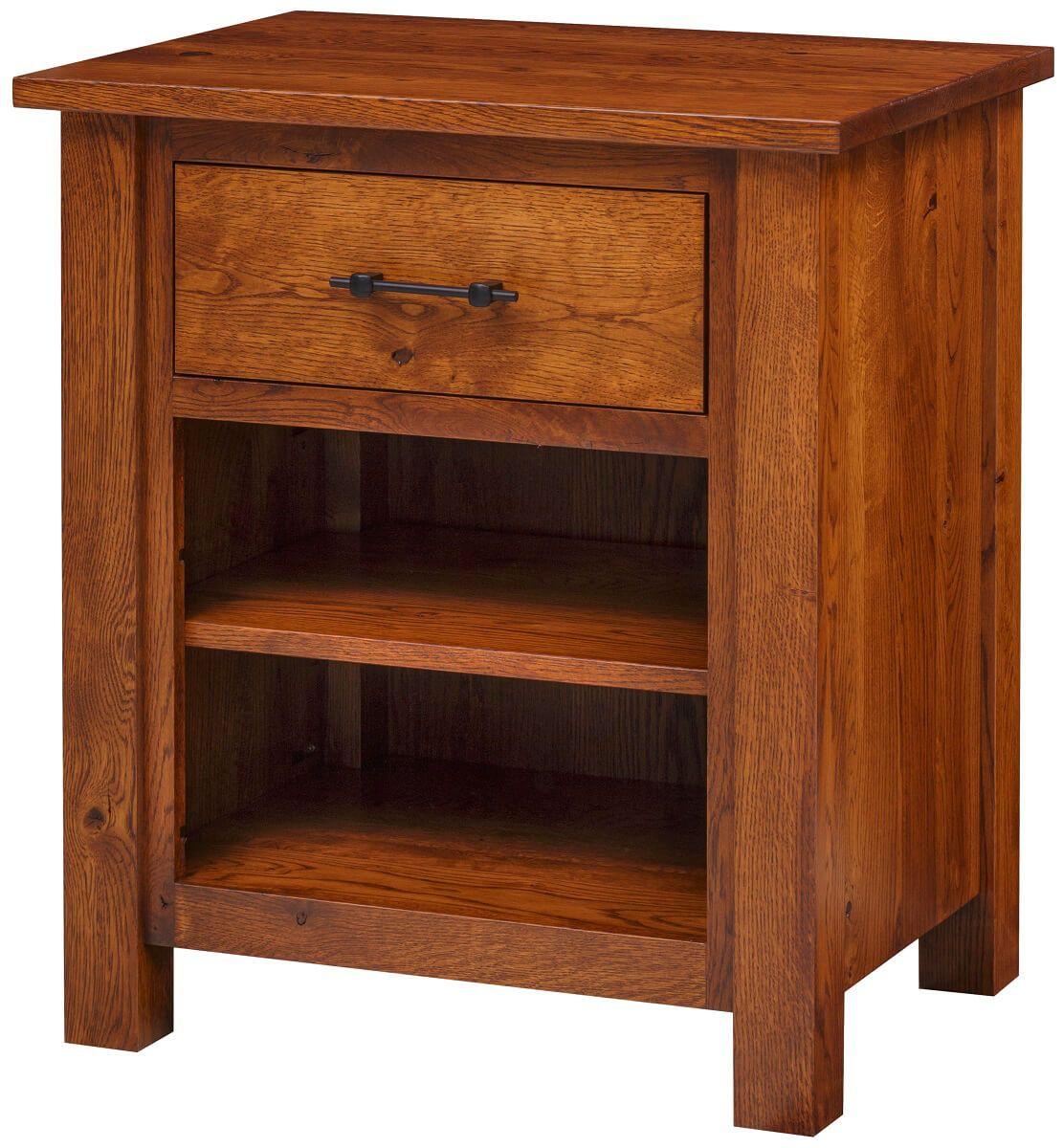 Bald Knob 1-Drawer Bedside Table
