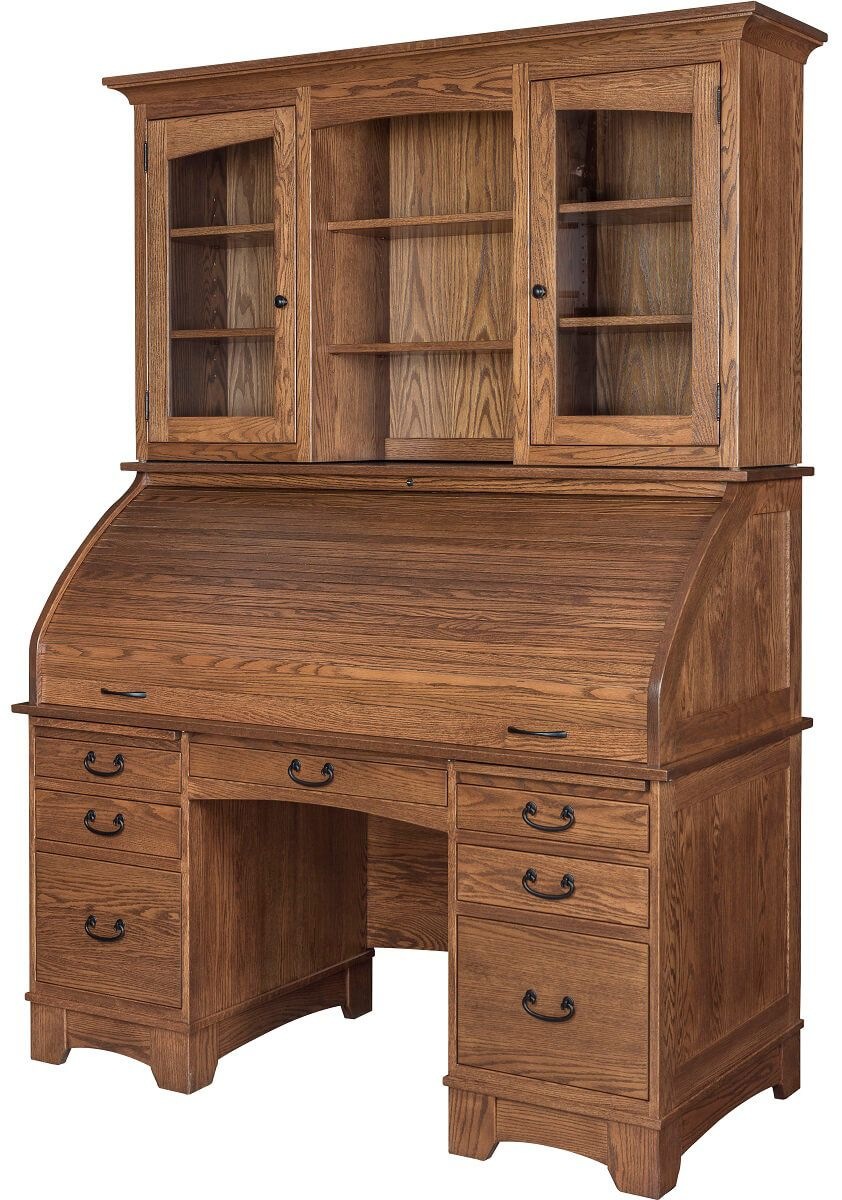 Chipley Rolltop Desk With Hutch