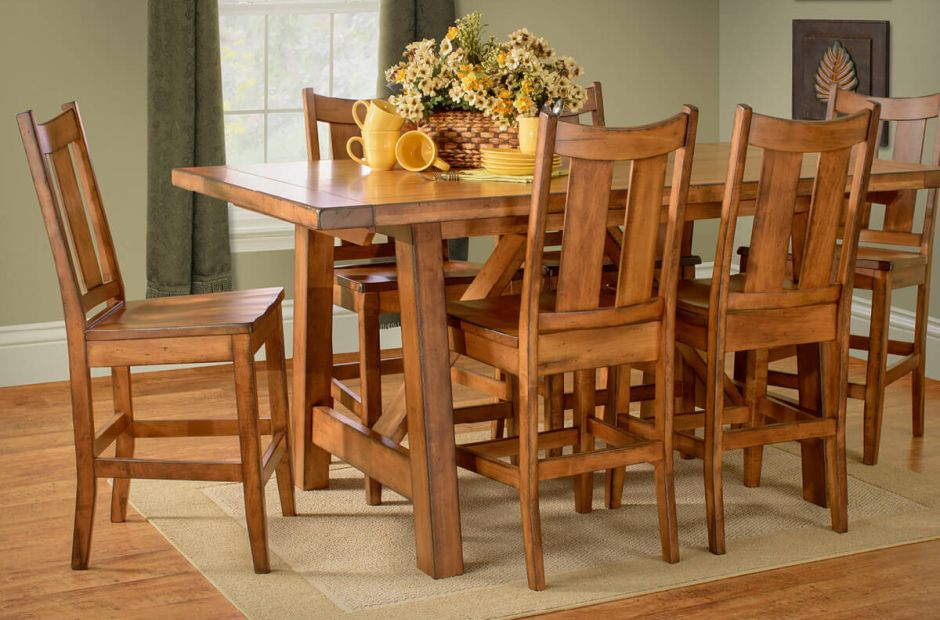 El Paso Counter Dining Set Countryside Amish Furniture