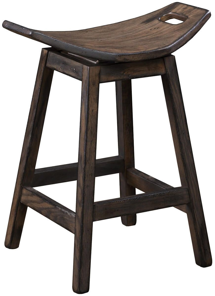 Oak Saddle Stool