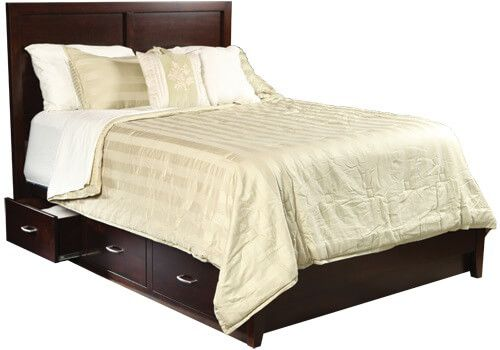 Storage Bed With Low Footboard