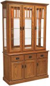 Livonia 3-Door Mirrored Back Hutch