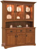 Livonia 3-Door Open Hutch