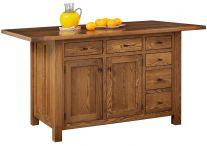 pocatello 6 drawer kitchen island wood kitchen islands and tables   countryside amish furniture  rh   countrysideamishfurniture com