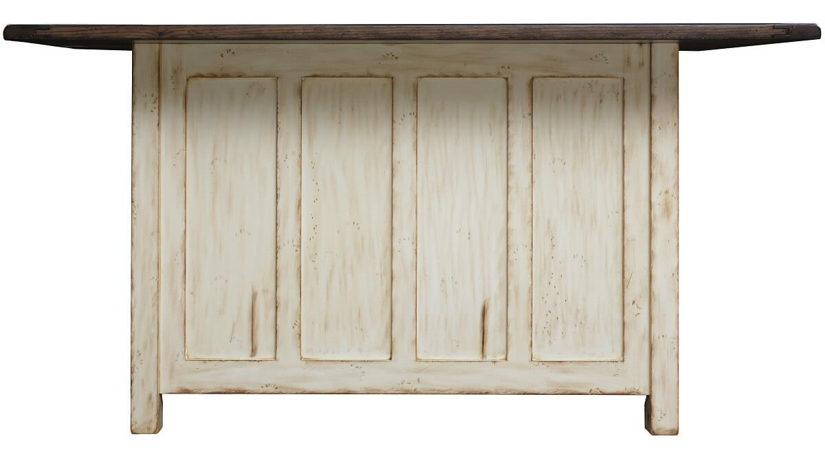 Paneled Wooden Back