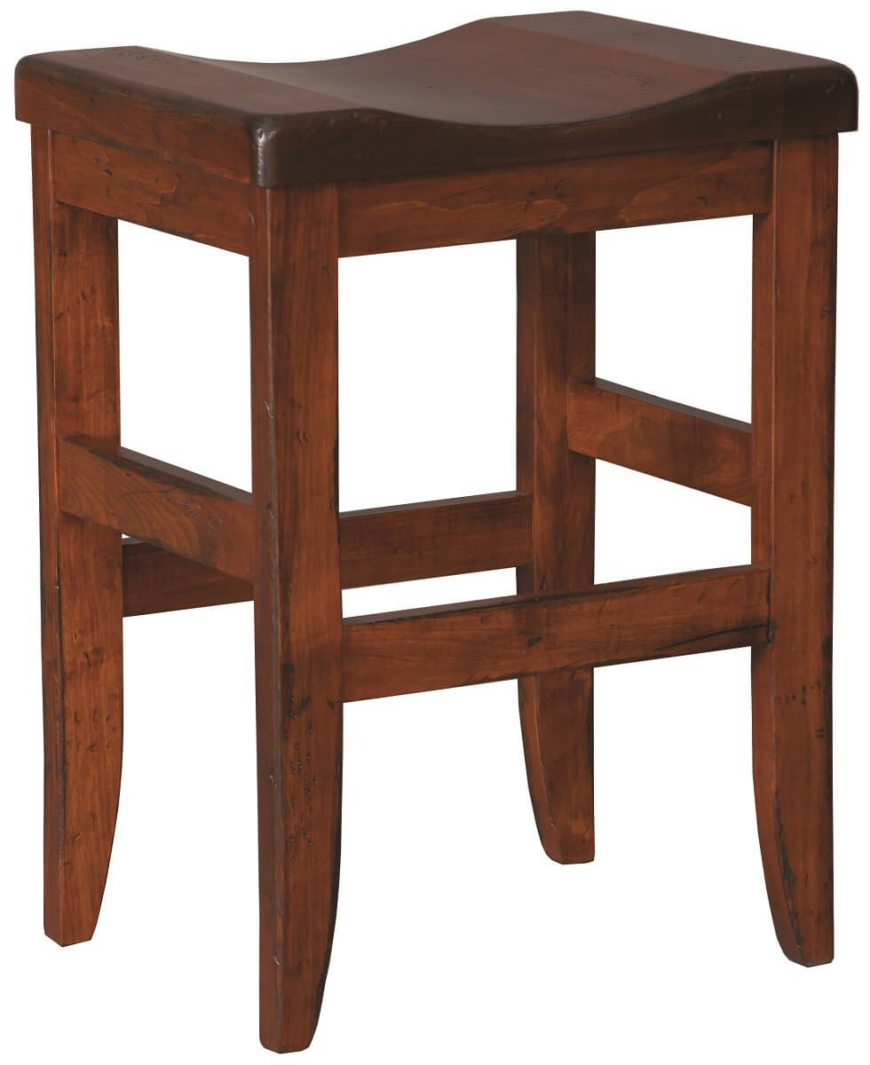 Solid Wood Backless Stool