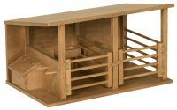 Amish Wooden Horse Stable Toy