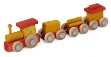 Painted Children's Wooden Train Toy