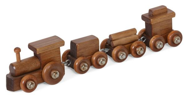 Stained Children's Wooden Train Toy