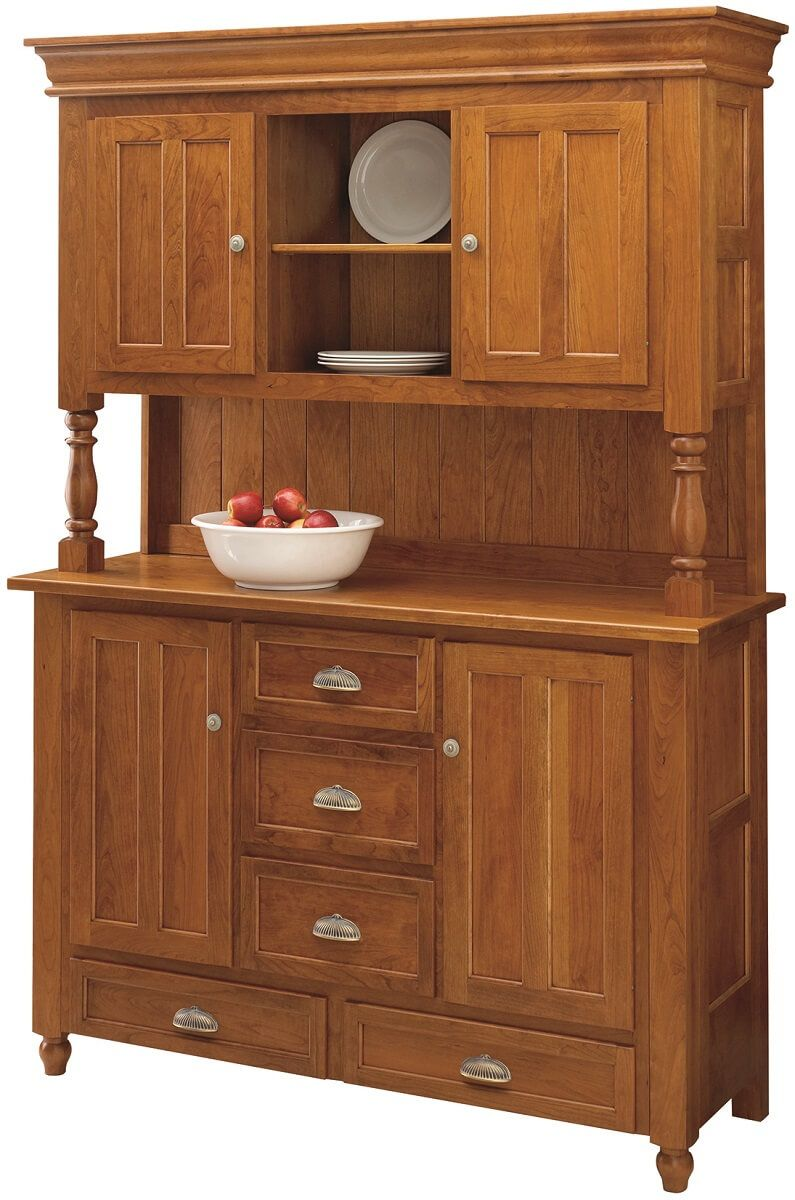 Cherry Hutch with Wooden Doors