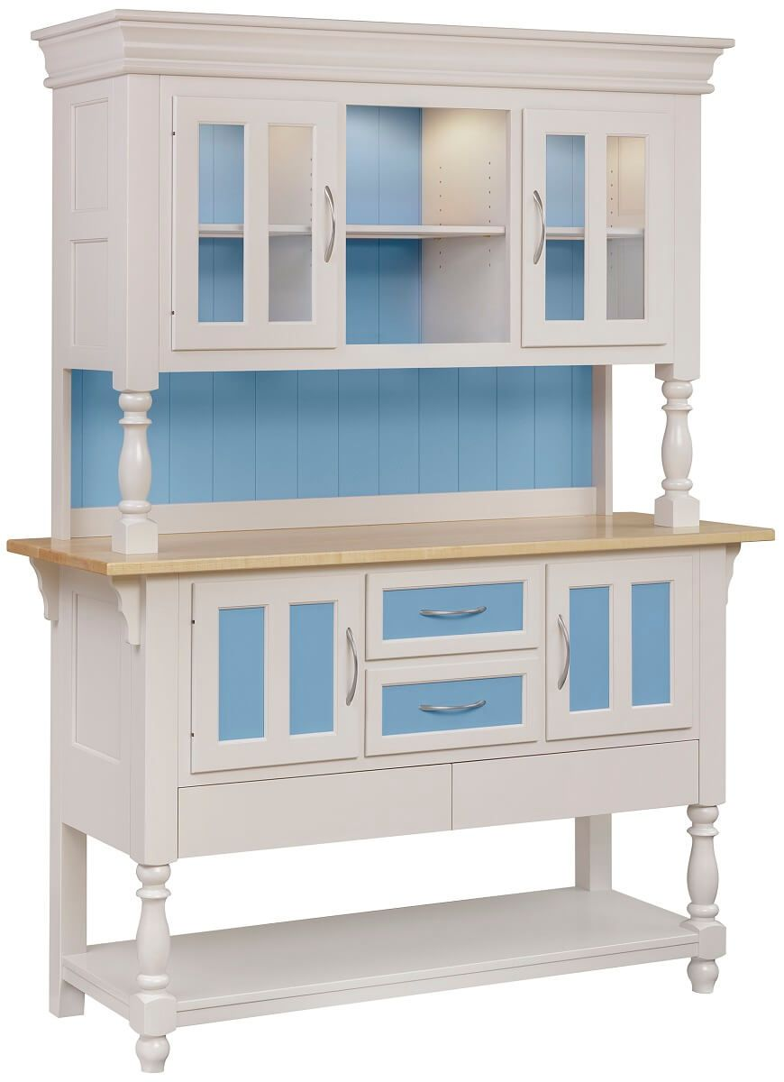 Farmhouse Hutch with Painted Finish