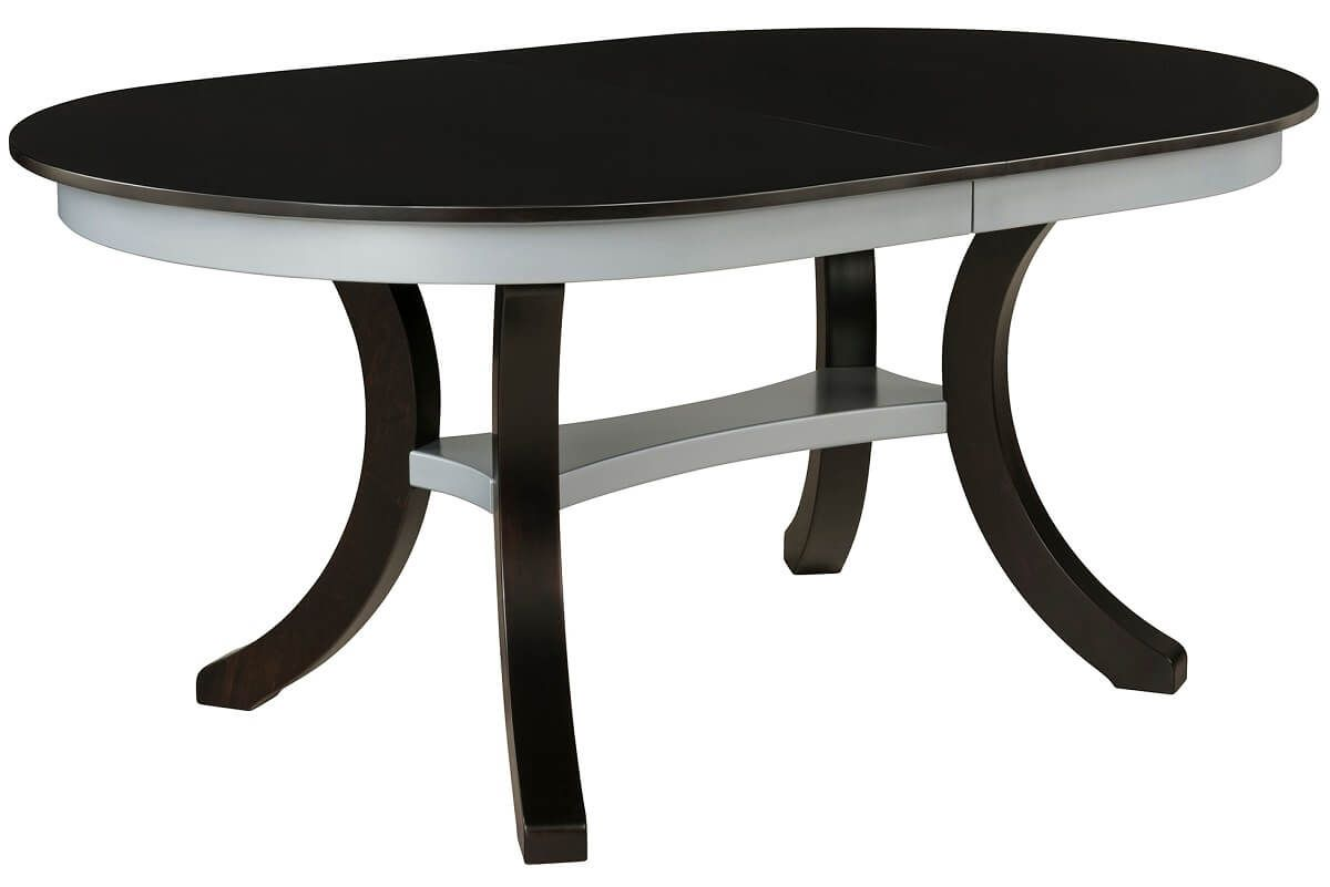 Two Tone Oval Dining Table