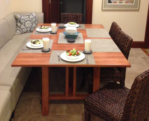 Cherry Table is Gorgeous Addition to Dining Area
