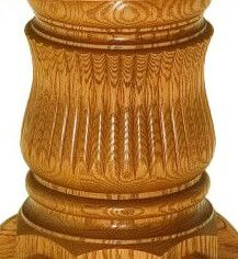 Country Woodshop Fluted Pedestal