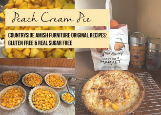 Peach Cream Pie: Gluten Free & Real Sugar Free