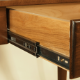 Drawers come built on central full extensions