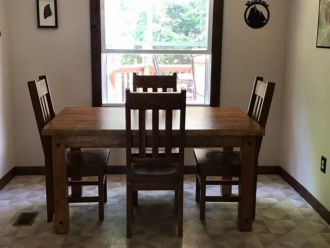 Table and Chairs Compliment Rustic Look