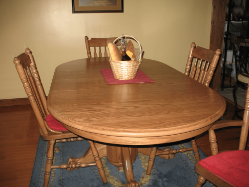Amish Dining Table is Top of the Line