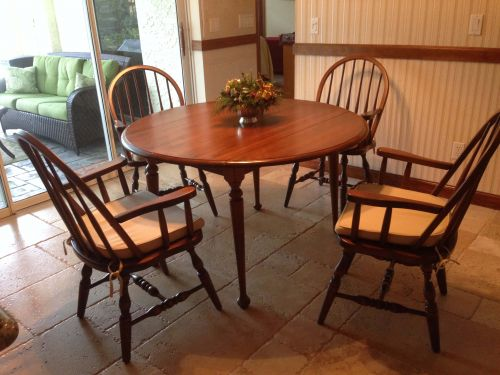 Low Back Spindle Chairs Fit in Perfectly with Heirloom Table