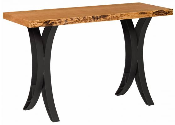 Dominion Reserve Live Edge Sofa Table Countryside Amish Furniture