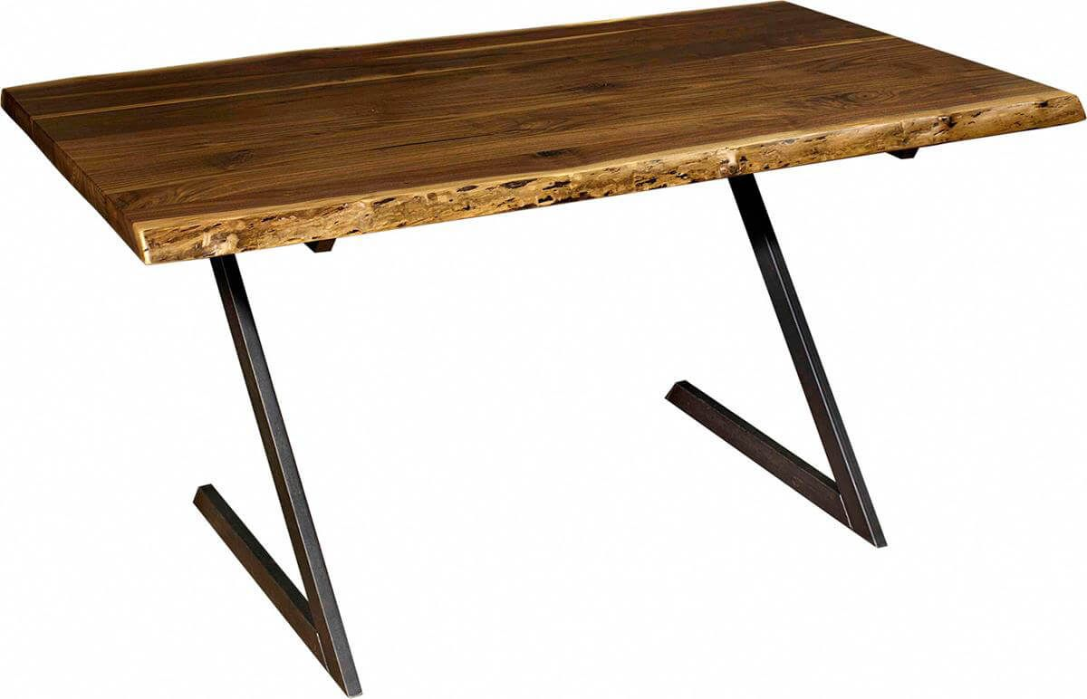 Bradgate Park Live Edge Desk in Walnut