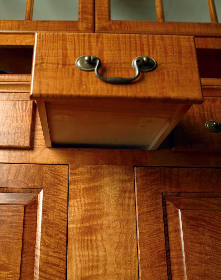 Period correct non-glide drawers