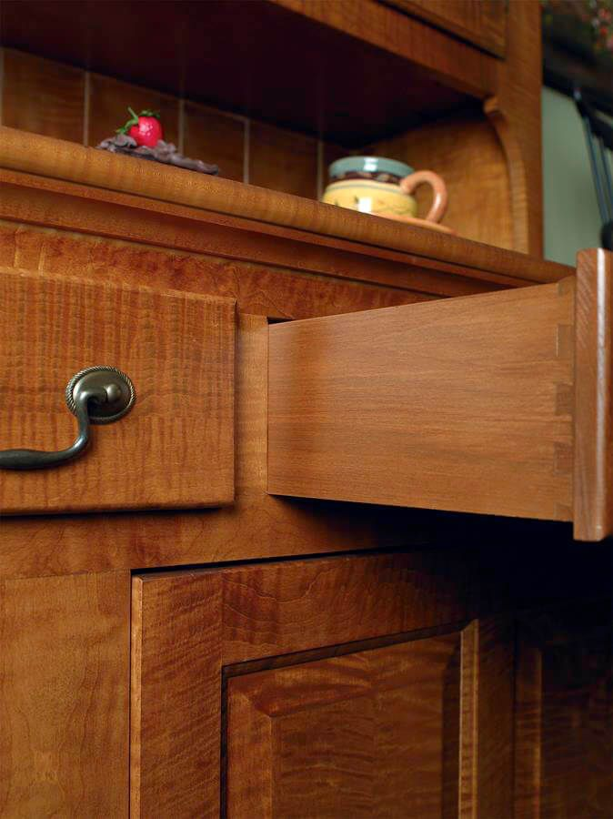 Dovetailed drawers are strong and period correct